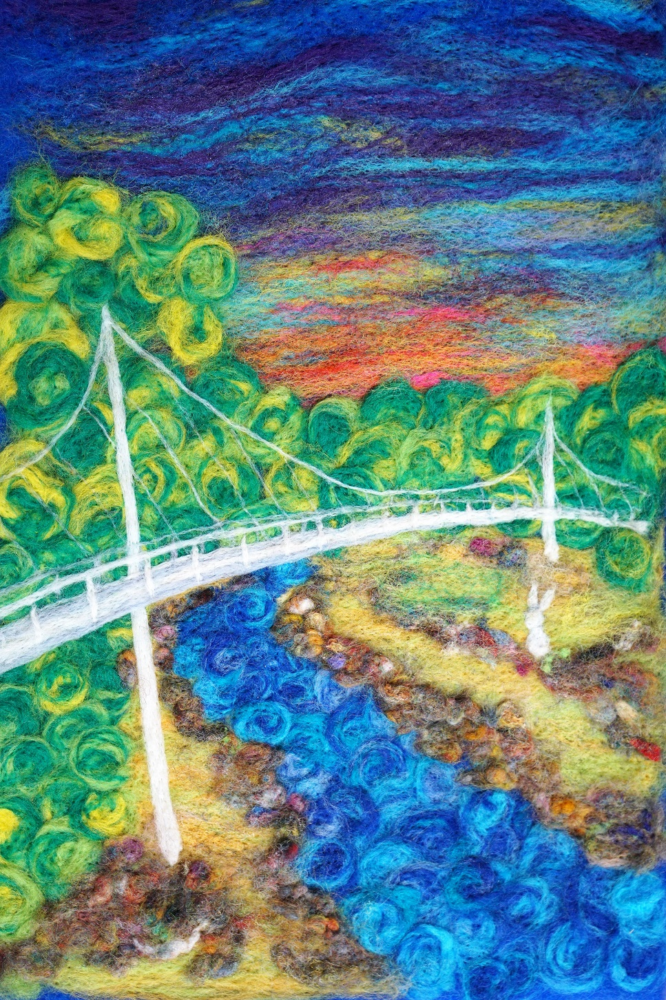 Liberty Bridge painting